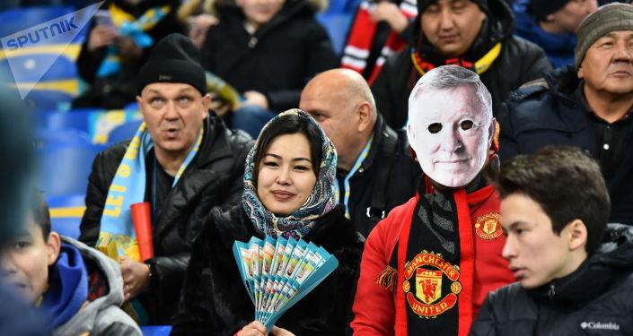 Астана - Манчестер Юнайтед матчы. Жанкүйерлер