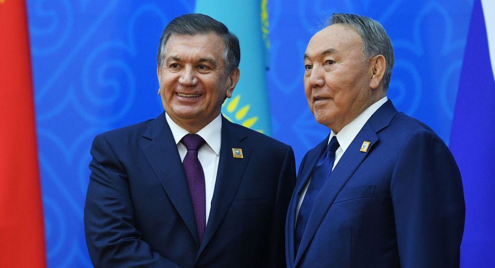 Шавкат Мирзиеев пен Нұрсұлтан Назарбаев