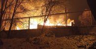 Пожар частного жилого дома в Медеуском районе