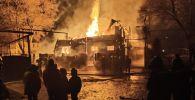 Банный комплекс Царское село  сгорел в Медеуском районе