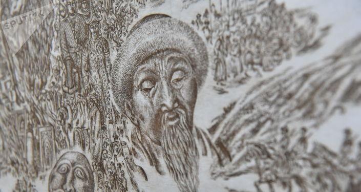 Нұр-Сұлтанда павлодарлық графикалық суретші, Қазақстанның еңбек сіңірген қайраткері Виктор Поликарповтың Родительница степь… көрмесі ашылды