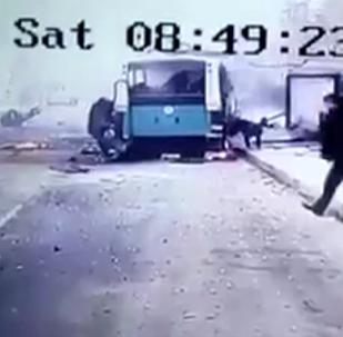 Қайсерідегі әскерилер мінген автобус маңында миналанған көліктің жарылуы