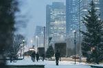 Виды Нур-Султана зимой