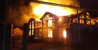 Банный комплекс сгорел в Бостандыкском районе