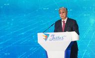 Президент Казахстана Касым-Жомарт Токаев на церемонии закрытия Года молодежи