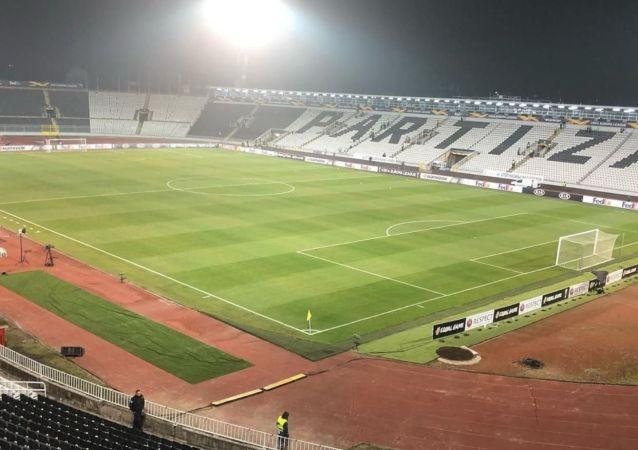 Стадион Партизан за час до матча с Астаной