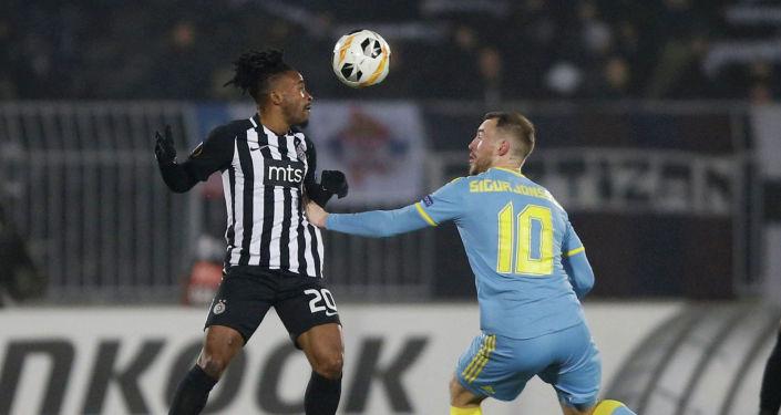 Матч Партизан - Астана в рамках группового этапа Лига Европы