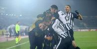 Игроки Партизана радуются четырем забитым голам в створ Астаны
