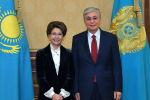 Касым-Жомарт Токаев принял народную артистку Казахстана Розу Рымбаеву
