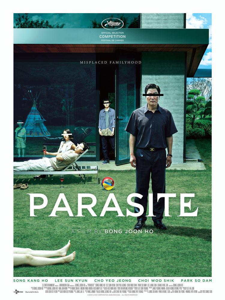 Постер к южнокорейскому фильму «Паразиты»