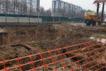 На месте обрушения грунта при строительстве метров Ташкенте