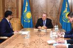 Нұрсұлтан Назарбаев БАӘ елшісі Мұхаммед әл-Джабермен кездесті