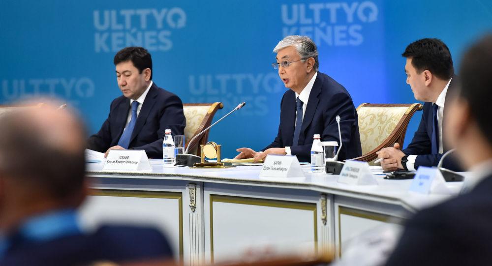 Президент Казахстана Касым-Жомарт Токаев на заседании Национального совета общественного доверия