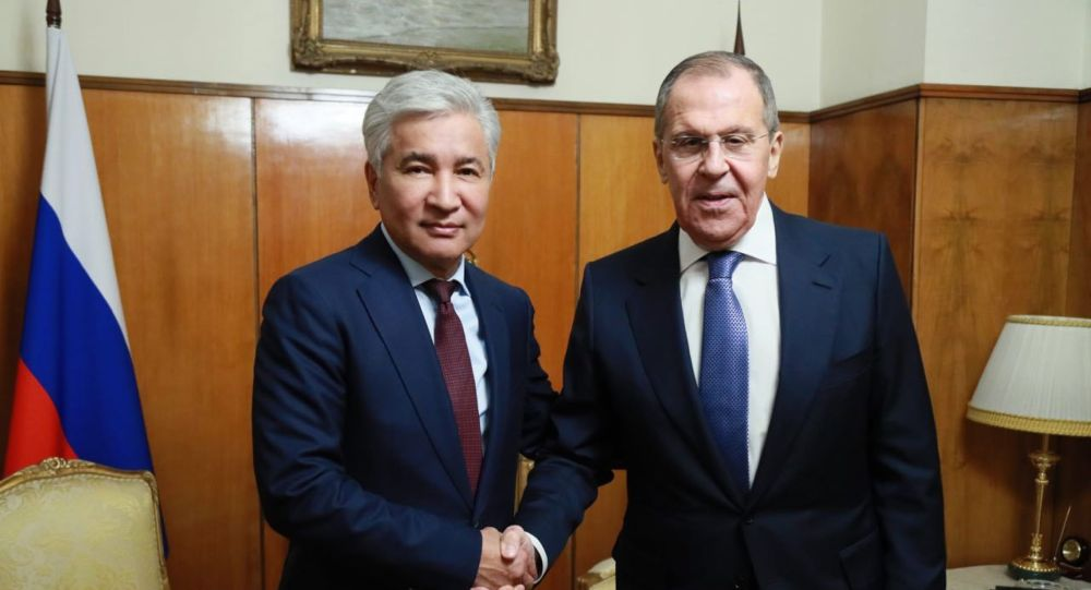 Глава российского МИД Сергей Лавров встретился с Имангали Тасмагамбетовым