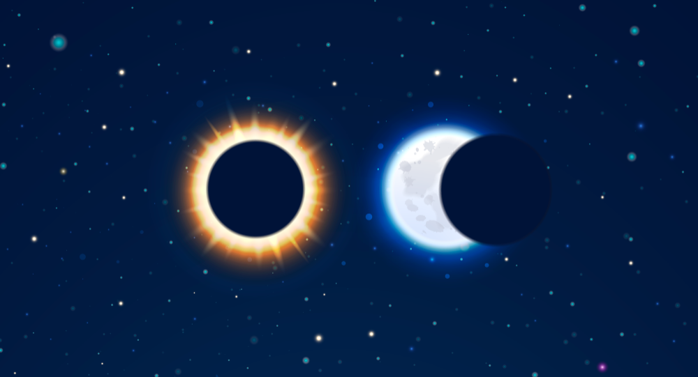 Лунное и солнечное затмение в картинках
