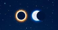 Инфографика: солнечные и лунные затмения