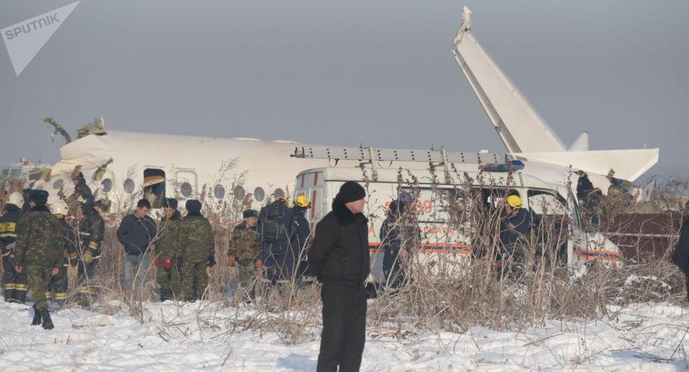Падение самолёта под Алматы