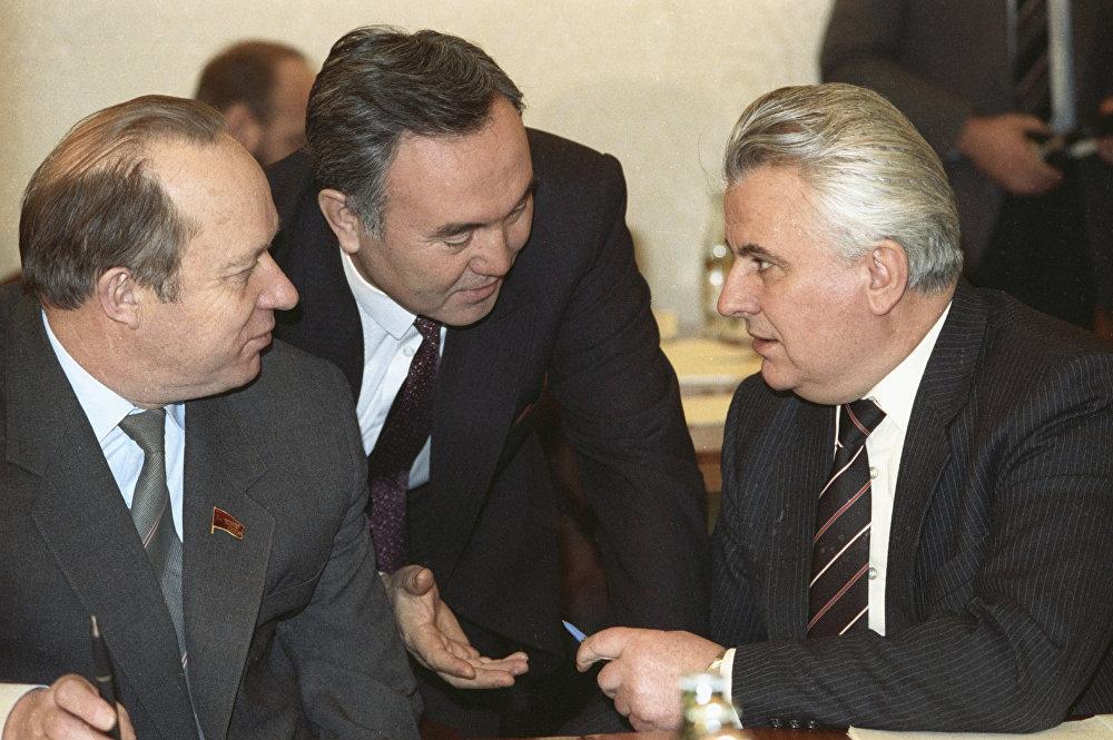 Қазақстан президенті Н.А. Назарбаев пен Украина президенті Л.М. Кравчук