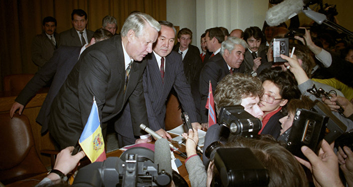 РФ президенті Б.Ельцин мен Қазақстан республикасы президенті Н. Назарбаев