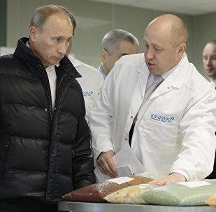 Евгений Пригожин мен Владимир Путин