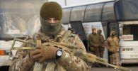 Украинский военнослужащий во время обмена пленными, архивное фото