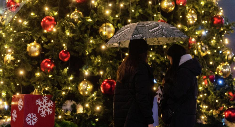 Новогоднее оформление Алматы 2020