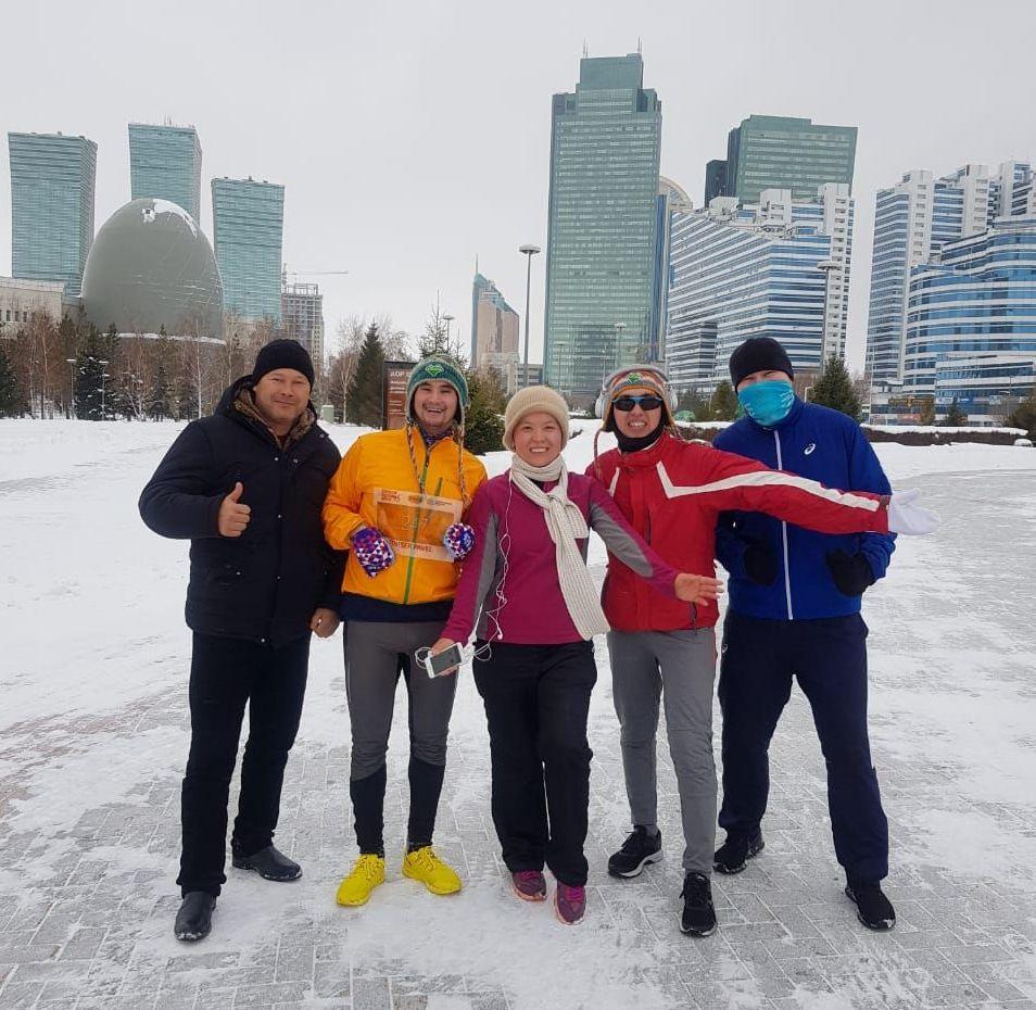 Астанчане пробежали марафон 1 января