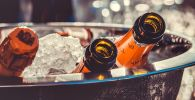 Бутылки шампанского, архивное фото