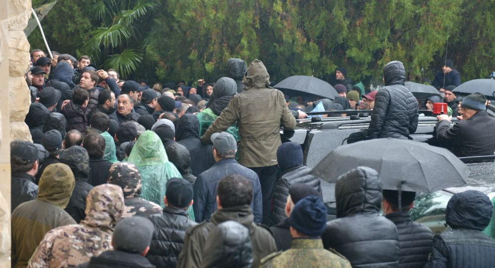 Акция оппозиции в Абхазии