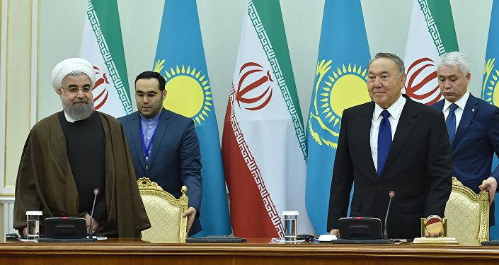 Встреча президентов Ирана и Казахстана в Астане