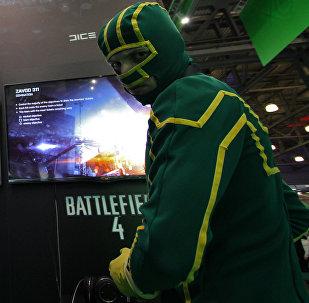 Архивное фото участников выставки компьютерных игр