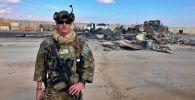 Американский солдат на базе Айн аль Асад в Ираке