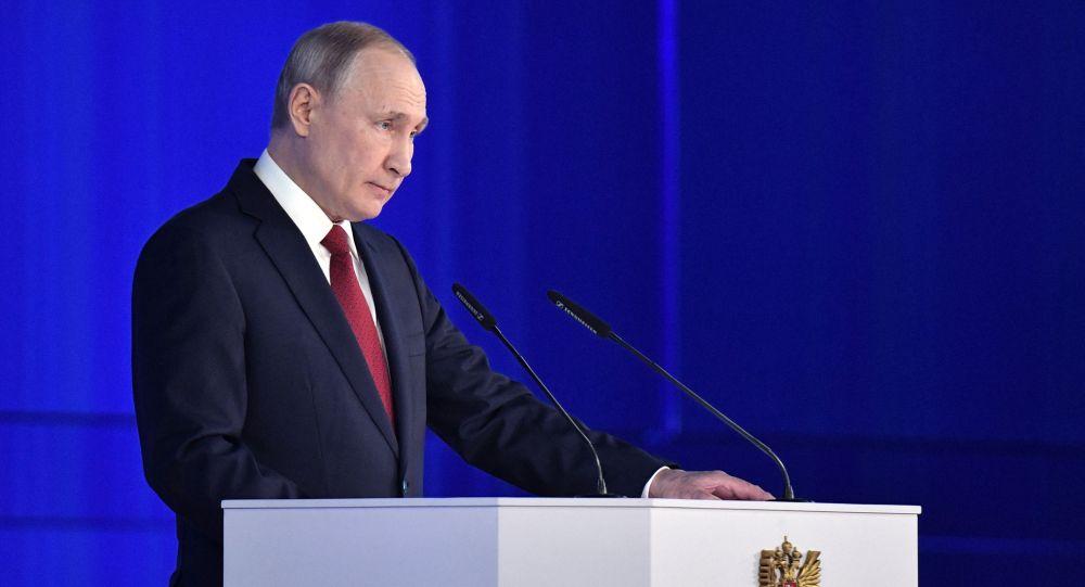 Ежегодное послание президента РФ Путина Федеральному Собранию, архивное фото