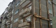 Аварийная пятиэтажка в Кокшетау