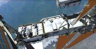 выход в открытый космос на МКС для замены батареи