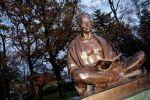 Памятник Махатмы Ганди, архивное фото