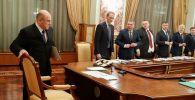 Премьер-министр РФ Михаил Мишустин на заседании правительства