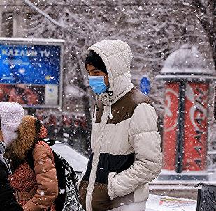 Қар жамылған Алматы