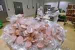 Архивное фото предприятия по производству колбасной продукции