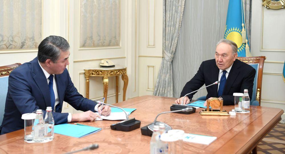 Первый президент Казахстана Нурсултан Назарбаев встретился с секретарем Совбеза Асетом Исекешевым