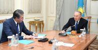 Нұрсұлтан Назарбаев президент көмекшісі – Қауіпсіздік кеңесінің хатшысы Әсет Исекешевті қабылдады
