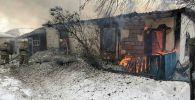 Пожар в частном доме в Успенском районе Павлодарской области