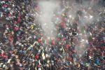 Жесткая битва тысячи всадников за тушу теленка в Кара-Суу - видео
