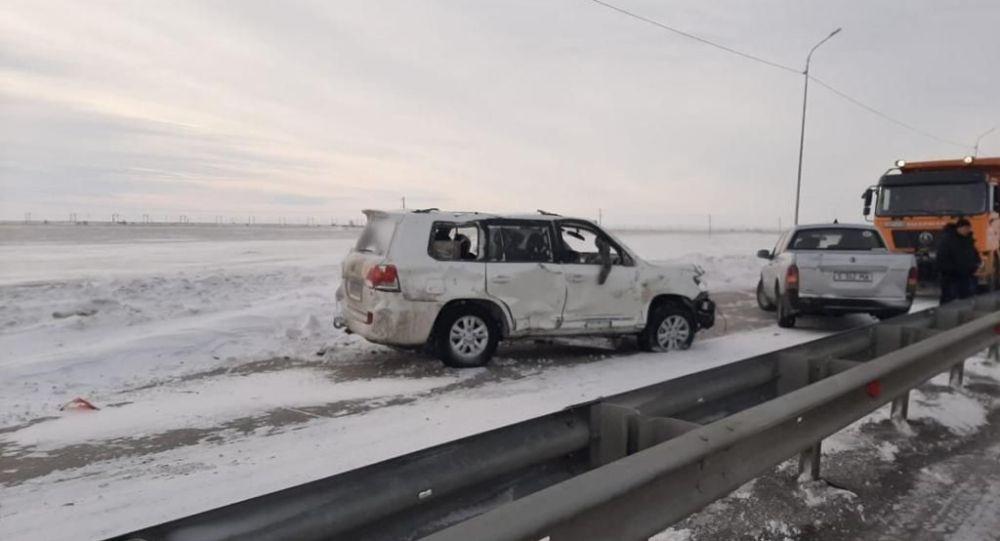 Женщина и ребенок погибли в аварии на трассе Павлодар - Кызылорда