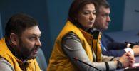 Глава Sputnik Эстония Елена Черышева и исполнительный директор МИА Россия сегодня Кирилл Вышинский