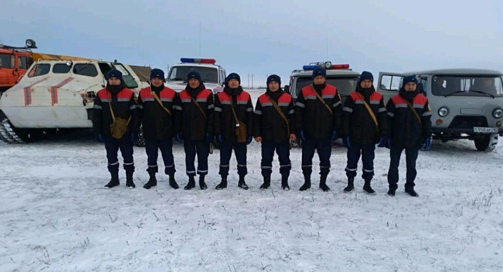 Қостанай облысы төтенше жағдайлар департаментінің қызметкерлері