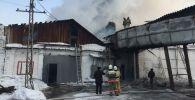 Маслозавод горит на востоке Казахстана