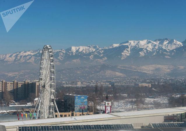 Виды Алматы зимой