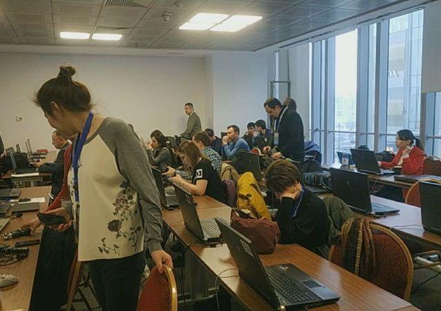 Пресс-центр для журналистов, освещающих форум  Цифровое будущее глобальной экономики