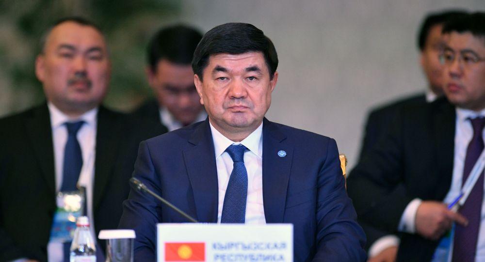 Премьер-министр Киргизии Мухаммедкалый Абылгазиев на заседании Евразийского межправительственного совета в расширенном составе